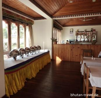 speissaal buffetstation im damchen resort
